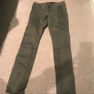 Express olive green jeans